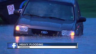 Heavy flooding in Kenosha - Video