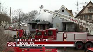 BREAKING NEWS: House fire near 21st and Concordia - Video