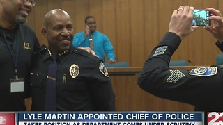 Lyle Martin named chief of Bakersfield Police Department - Video