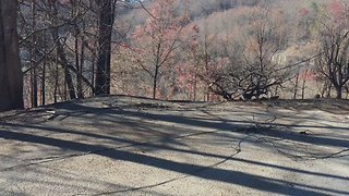 Wildfire Reduces Mountain Homes to Their Concrete Foundations - Video