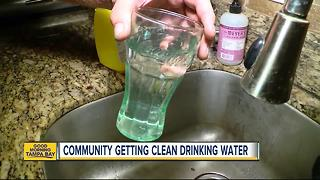 North Palm River homeowners closer to enjoying fresh drinking water from their homes - Video