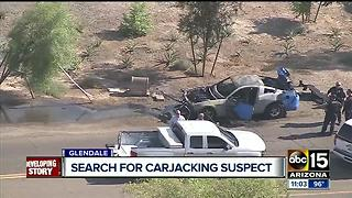 Glendale looking for carjacking suspect - Video