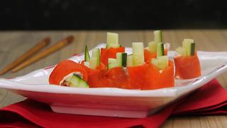 Smoked Salmon & Cucumber Sushi - Video