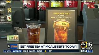 Get free iced tea all day on Thursday - Video