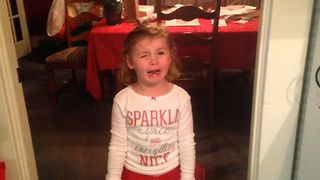 Little Girl Won't Share Cookies With Santa - Video