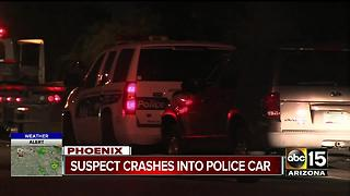 Phoenix police: suspect fled DPS, hit police car and fled - Video