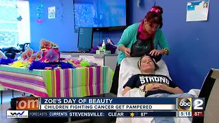 Zaching Against Cancer brings Zoe's Day of Beauty to Johns Hopkins Children's Center - Video