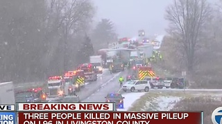 Three people killed in I-96 accident - Video