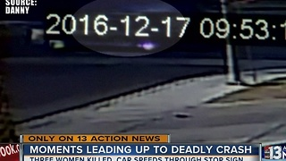Video shows moment car misses stop sign, three women killed - Video