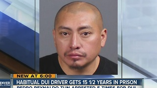 Habitual DUI driver gets 15.5 years in prison - Video