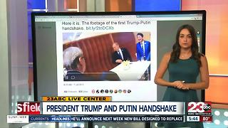 First handshake between President Trump and Putin - Video