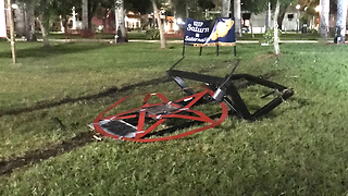 Boca Raton Satanic display ripped out of ground - Video