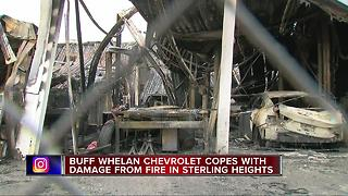 Buff Whelan Chevrolet copes with damage from fire - Video