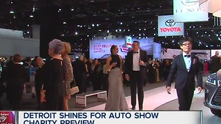 Detroit shines for auto show charity preview - Video