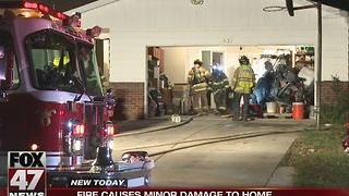 Overnight fire causes minor damage to home - Video