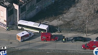 DDOT bus crashes on Detroit's east side - Video