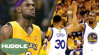 LeBron James to the Lakers in 2018? Will the Warriors SWEEP!? -The Huddle - Video