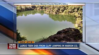 Largo teen dies after cliff diving into quarry - Video
