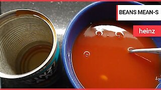 A man says he's bean had after opening a can of Heinz Baked Beans - and found ONE bean inside