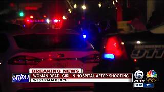 Mother killed, 11-year-old daughter injured in West Palm Beach double shooting - Video