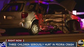 Three children seriously hurt in Peoria crash - Video