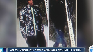 Police investigate armed robberies around UB South - Video