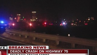 Highway 75 shut down due to a deadly crash
