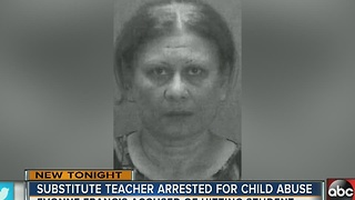 Pasco substitute teacher arrested and charged with child abuse