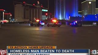 UPDATE: Police say man found downtown was beaten to death