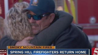 Spring Hill Firefighters Return Home - Video