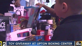 Toy giveaway held at west Baltimore boxing center - Video