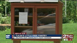 Tulsa's little free pantry - Video
