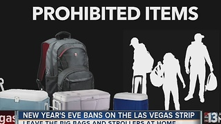 Items prohibited on the Las Vegas Strip for New Year's Eve - Video