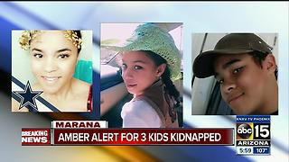 Amber Alert for three kids kidnapped, last seen near Marana - Video