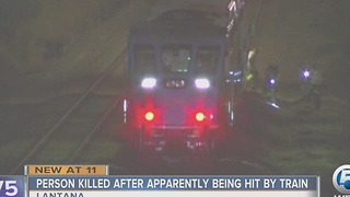 Person killed after apparently being hit by train - Video