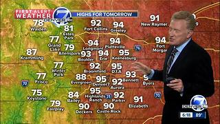Hot and dry through Sunday