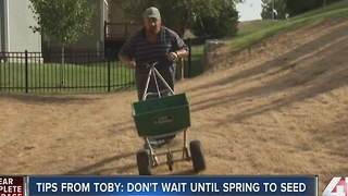 Tips from Toby: Don't wait until spring to seed - Video