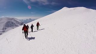 Hikers document journey up tallest mountain in Europe - Video