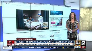 Johns Hopkins Children's Center ranks fifth best children's hospital - Video