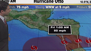 Hurricane Otto Wednesday morning update (11/23/16) - Video