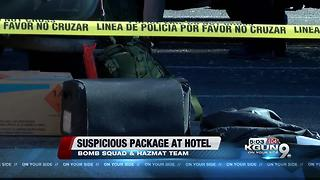 Suspicious suitcase destroyed - Video
