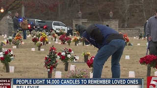 Thousands Of Candles Lit For Loved Ones - Video