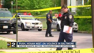 Mayor Pugh, Governor Hogan talk Baltimore crime