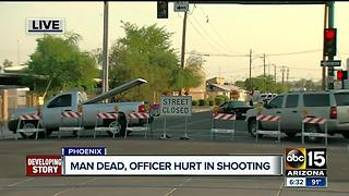 Police investigating after officer shoots and kills man in downtown Phoenix - Video