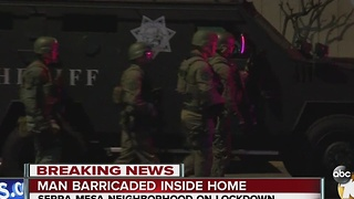 Man barricaded inside home