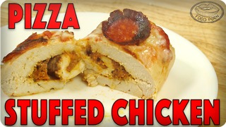 Pepperoni pizza stuffed chicken