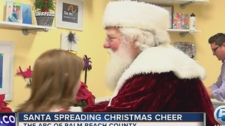 Santa spreading Christmas cheer - Video
