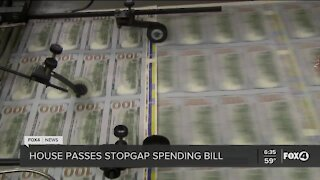 House passes stopgap spending bill