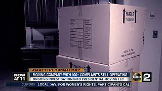 Moving company racks up 100+ complaints, still operating nationwide - Video