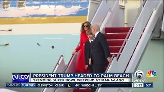 Flight restrictions indicate President Trump returning to Palm Beach County this weekend - Video